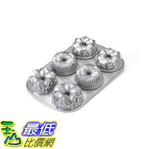 [104美國直購] 花型餅乾模具 Nordic Ware Platinum Collection Cast Aluminum Garland Bundt Pan