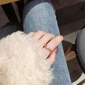 轉運珠戒指女旋轉冷淡風時來運轉網紅食指戒