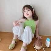 兒童夏季圓領薄款外穿女童背心夏裝吊帶寶寶【時尚大衣櫥】