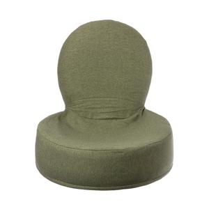 HOLA 素色仿棉漢堡和室椅-星點綠