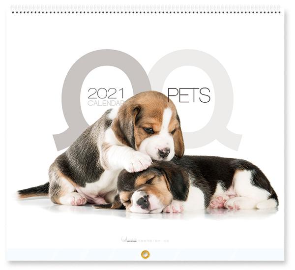 2021-月曆~JL616 QQ PETS (封面立體P光)《天堂鳥月曆》尺寸 : 37.5cm*35cm(展開70cm)*13張