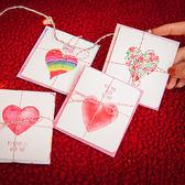 【BlueCat】永恆的愛紅白線條綁帶卡片