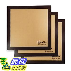 [美國直購] Excalibur B00RM1QSWE 14x14 吋(3入) 矽膠不沾烘培墊 Non-stick Sheets