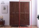 【新竹清祥傢俱】NBF-55BF03-北歐現代全實木雙門雙抽衣櫃 開門衣櫃 全實木 收納櫃(有抽屜)