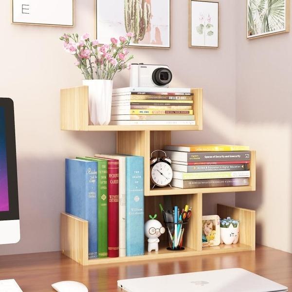 簡易桌上小書架兒童桌面置物架學生家用書櫃簡約辦公收納櫃省空間 嬡孕哺