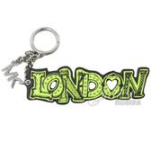 茱麗葉精品【全新現貨】MICHAEL KORS 街頭塗鴉倫敦造型鑰匙吊飾.螢光綠
