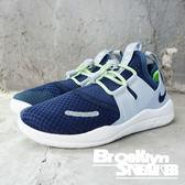 Nike Free RN 深藍 灰 螢光 套襪式 緩震 大童 (布魯克林) 2018/8月 AH3460400