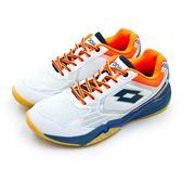 LIKA夢 LOTTO 專業透氣羽球鞋 APOLLO 阿波羅系列 白藍橘 6909 男