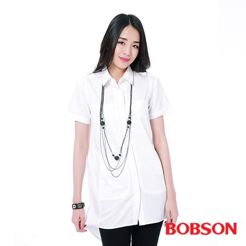 BOBSON 女款長版襯衫    (26127-80)