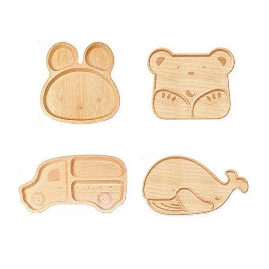 仙德曼 山毛櫸兒童餐盤-共4款