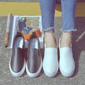 內增高小白鞋一腳蹬女鞋厚底懶人鞋黑白色百搭韓版 露露日記