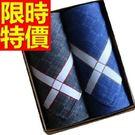 手帕禮盒別緻-必敗個性紳士純棉質男士配件3款57r6【時尚巴黎】