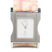 Dior 迪奧 Dior Chris 47 粉紅x白皮革石英腕錶 CD033110 【BRAND OFF】