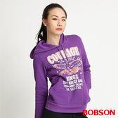 BOBSON 女款內刷毛連帽長袖上衣(紫31132-62)