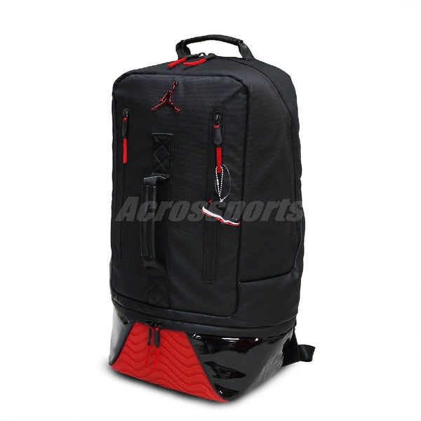 Nike 後背包Air Jordan Retro 11 Backpack Bred 黑紅男女款大容量11代 ... cca505b32a
