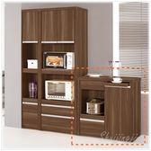 【水晶晶家具/傢俱首選】維爾達2.6尺胡桃色餐櫃JM8408-3