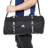 L- adidas 4ATHLTS DUFFEL BAG SMALL 黑白 運動背包 手提 滿版字樣 休閒背包 FJ9353