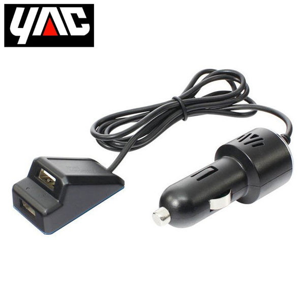 日本YAC 1M延長型兩孔USB連接插座