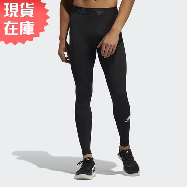 【現貨】ADIDAS TF LONG TIGHT 男裝 長褲 緊身 訓練 健身 吸濕 排汗 黑【運動世界】GM5036