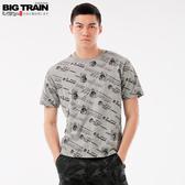 Big Train 翻轉潮流滿版印花短袖T-男-B80691