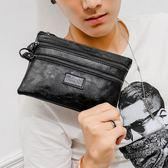 新款韓版小包 時尚男包小包休閒皮質手包新款男手指包零錢包