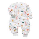 可拆袖加厚夾棉防踢被睡袋 獅子鱷魚 童裝 睡衣 連身衣 兒童睡袍