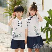 女童漢服夏兒童中國風古裝男童改良唐裝國學民國演出服民族風套裝  小時光生活館