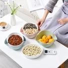 創意歐式瀝水籃家用雙層果盤客廳塑膠洗水果藍多功能可愛簡約果盆