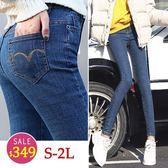 BOBO小中大尺碼【13333】中腰口袋弧線修身窄管褲 S-2L 現貨