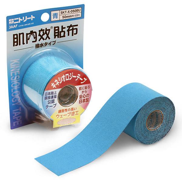 專品藥局 日東 肌內效貼布-4.6m 藍 運動膠帶 (肌內效 彈力運動貼布 運動肌貼 彩色貼布)