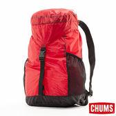 CHUMS 日本 超輕量後背包 可折疊 紅 CH602145R001