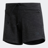 ADIDAS ID MÉLANGE 女裝 短褲 休閒 慢跑 訓練 棉質 修身 黑【運動世界】FI4099