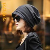 韓版潮春秋冬天羊毛冬季保暖黑色時尚月子男女帽子網紅包頭帽百搭