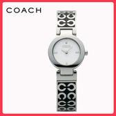 【僾瑪精品】COACH  MERCER-C LOGO經典手環時尚腕錶(白-25mm-14501359)