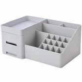 化妝品收納盒家用桌面遙控器整理盒宿舍分格化妝刷口紅面膜置物架