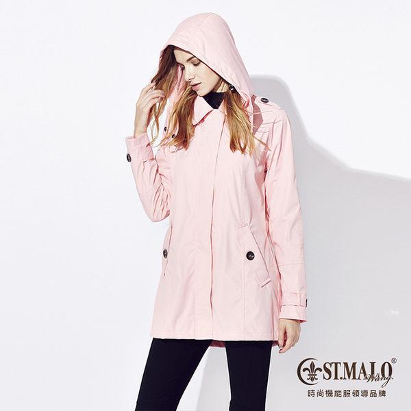 【ST.MALO】繽彩輕暖女風衣-1557WC-嫩粉紅