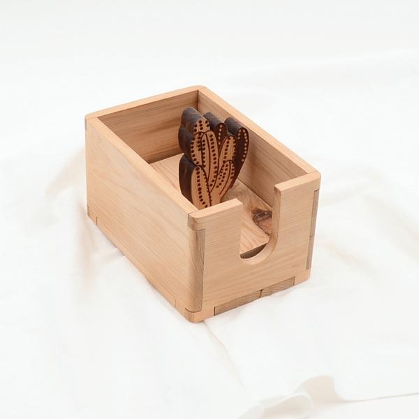 芬多森林|台灣檜木 多元收納盒-萬重山,可放置統一發票,迴紋針,客製化生日禮物,交換禮物