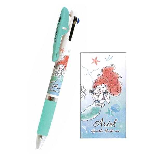 Kamio JETSTREAM 夾式三色溜溜筆 0.5mm 迪士尼 小美人魚 水彩風格_ KM10824
