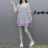 孕婦夏裝套裝時尚款新款兩件式春裝減齡夏季上衣寬松網美套裝【小玉米】