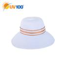 UV100 防曬 抗UV-優雅蝴蝶帽簷織帶帽
