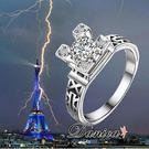 戒指 現貨 專櫃CZ鑽氣質閃亮 微鑲立體...