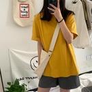 【Charm Beauty】黃色 短袖t恤 女裝 夏季 2021年 新款 大碼 寬鬆 韓版 ins潮 學生 上衣 網紅