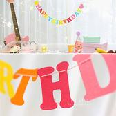 無紡布Happy Birthday派對彩旗 15枚入 派對布置 居家布置