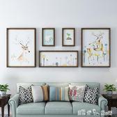 創意客廳裝飾畫美式背景墻畫北歐風格走廊房間時尚藝術畫 潔思米 IGO