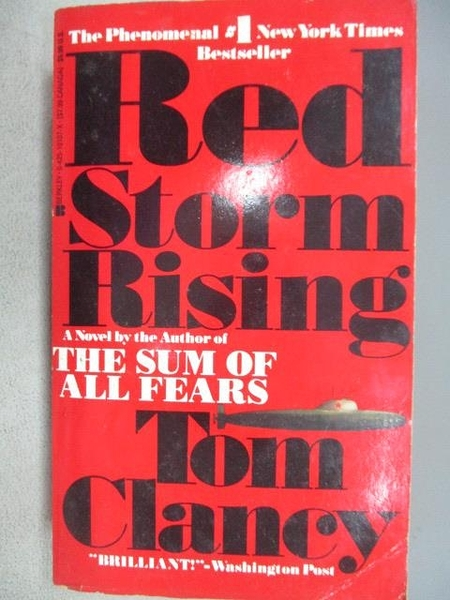 【書寶二手書T6/原文小說_MSC】Red Storm Rising_Tom Clancy