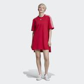 ISNEAKERS ADIDAS ORIGINALS TEE DRESS 桃紅 長版 連身裙 洋裝 短袖 女款 ED5863