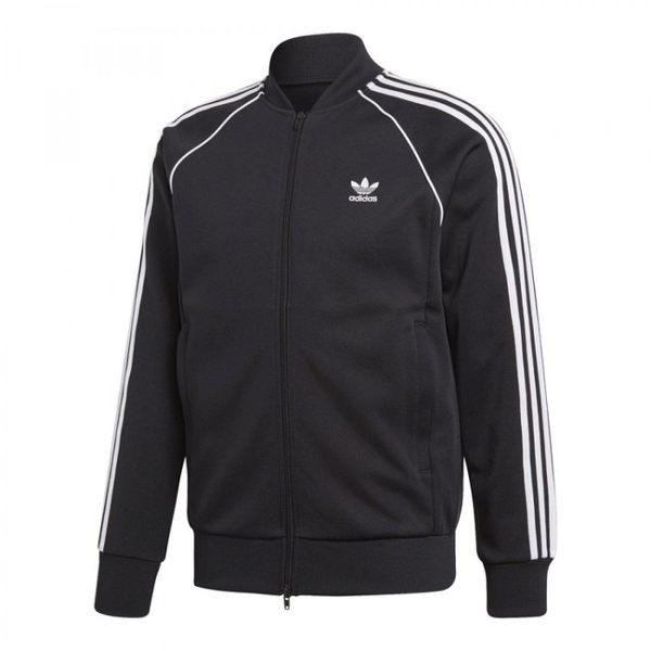 *adidas Originals 愛迪達 三葉草 黑白 男裝 黑色 三條 圓領 運動外套 CW1256