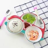 兒童餐盤陶瓷寶寶餐具套裝創意早餐飯盤汽車碗可愛卡通家用分格盤 居享優品