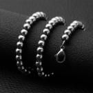 《 QBOX 》FASHION 飾品【NXL0063】精緻個性簡約型男粗圓珠鈦鋼項鍊子/鋼鍊條(6/8mm)