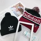 IMPACT Adidas Pompom Beanie 毛帽 針織 圓球 黑 酒紅 男女可戴 D98942 DH2574